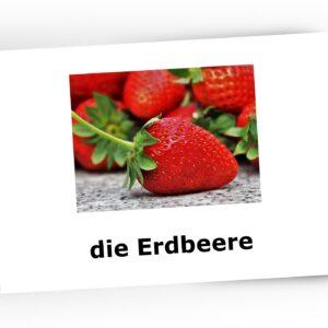 karty obrazkowe owoce po niemiecku