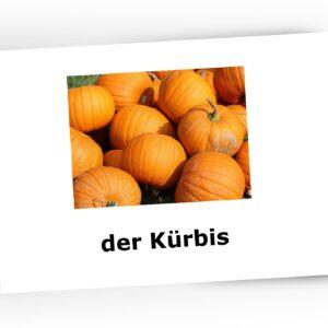 warzywa karty obrazkowe po niemiecku