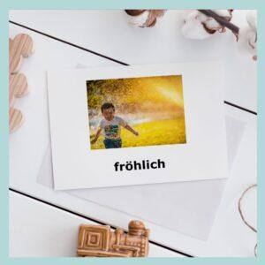karty obrazkowe po niemiecku emocje