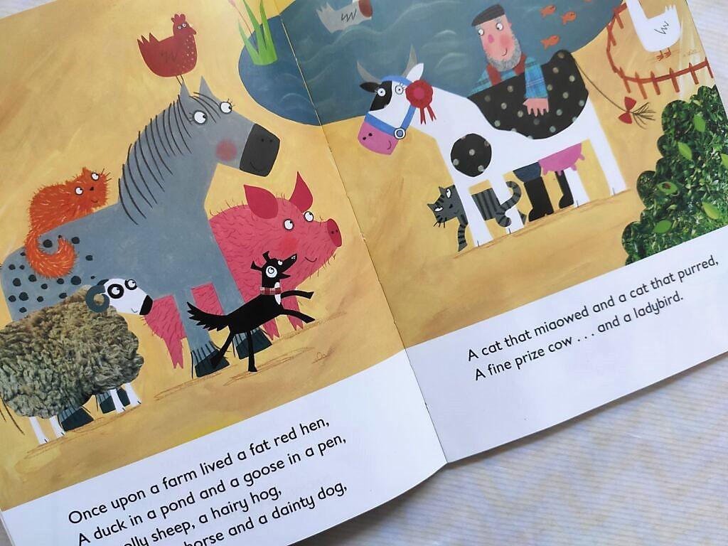 Środek książki What the Ladybird heard, Julia Donaldson