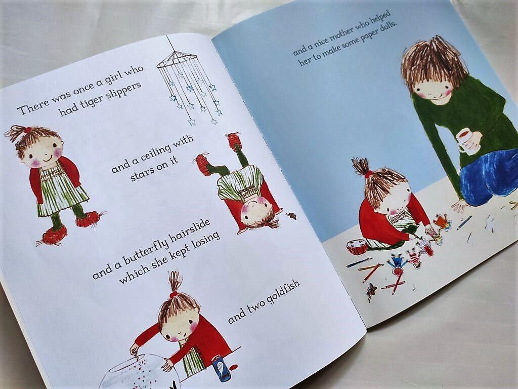 Środek książki The Paper Dolls, Julia Donaldson