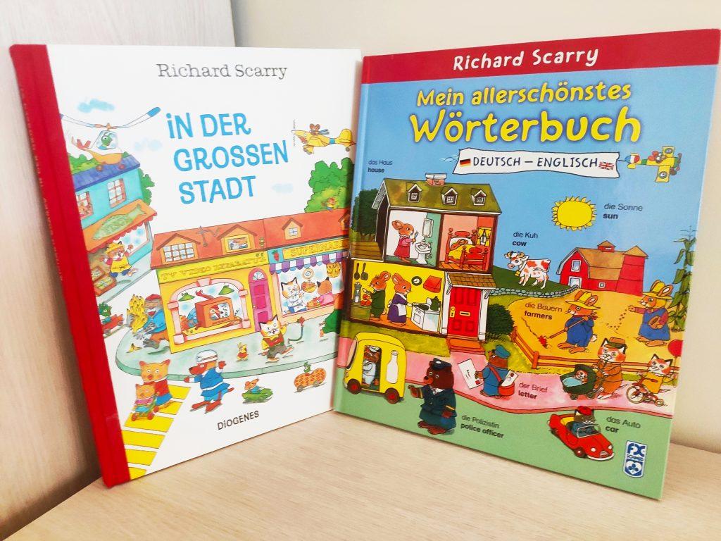 książki autorstwa Richardq Scarry'ego po niemiecku