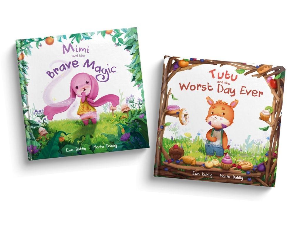 """książki dla dzieci po angielsku """"Mimi and the Brave Magic"""" oraz """"Tutu and the Worst Day Ever"""""""