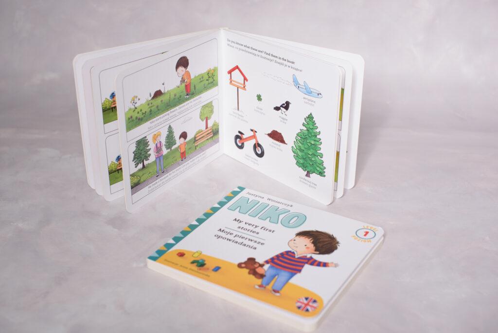 Pierwsza książka po angielsku dla dziecka NIKO MY VERY FIRST STORIES