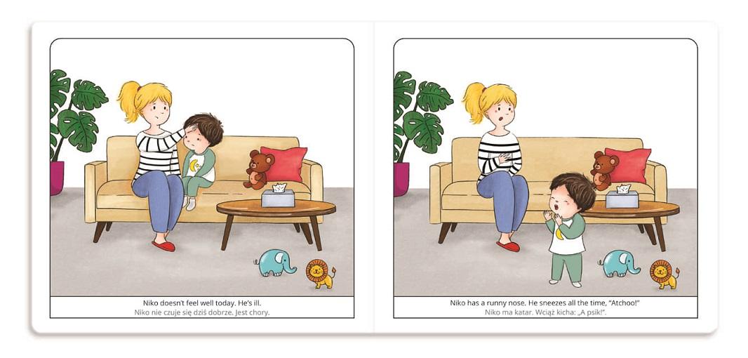 ksiazki-dwujezyczne-dla-dzieci-Niko-jest-chory