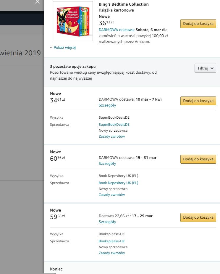 jak kupować na Amazonie książki