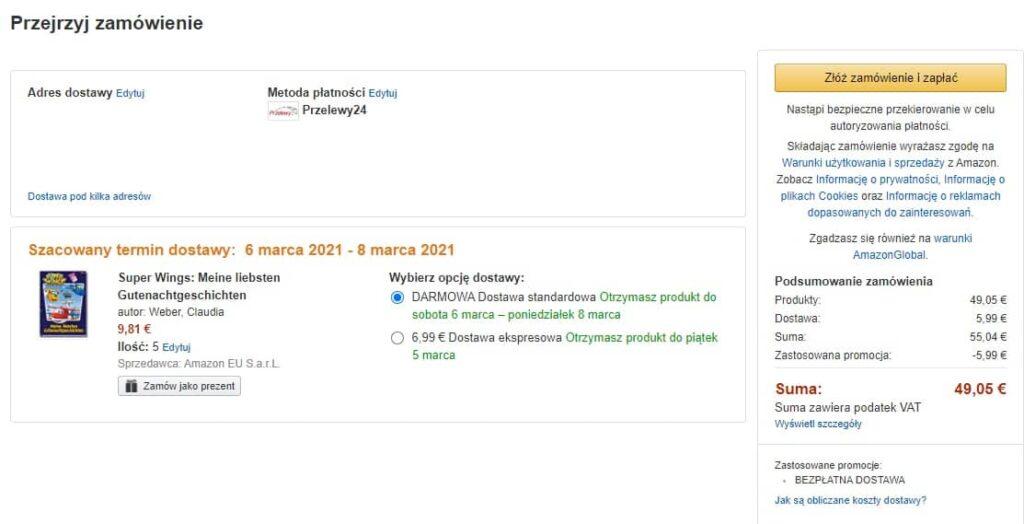 jak kupować na Amazonie niemieckim