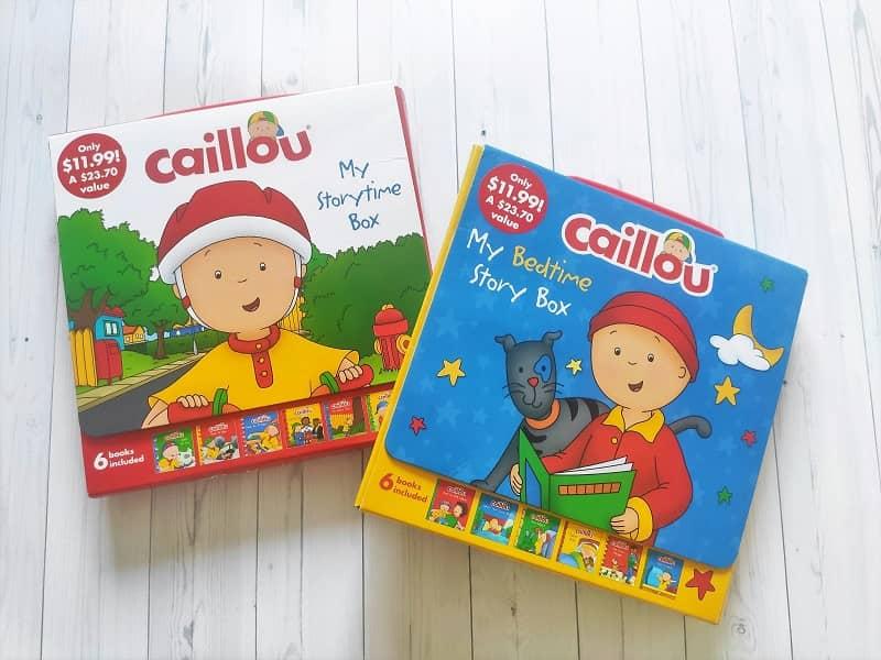 anglojęzyczne książki o Caillou