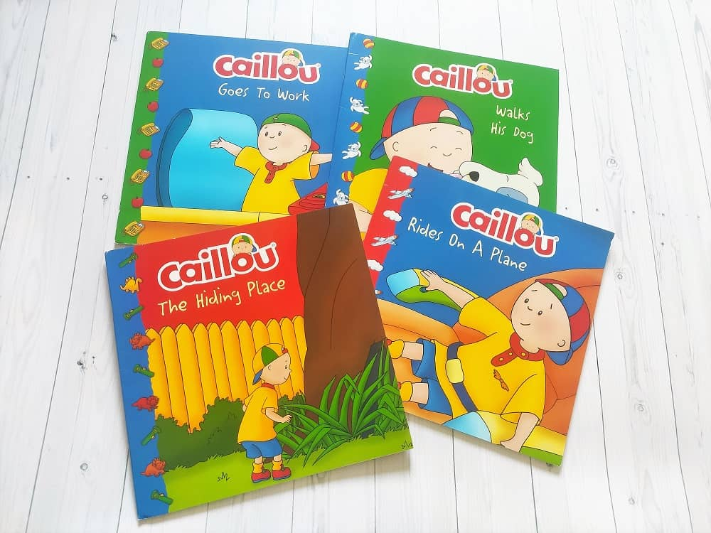 książki po angielsku o Caillou