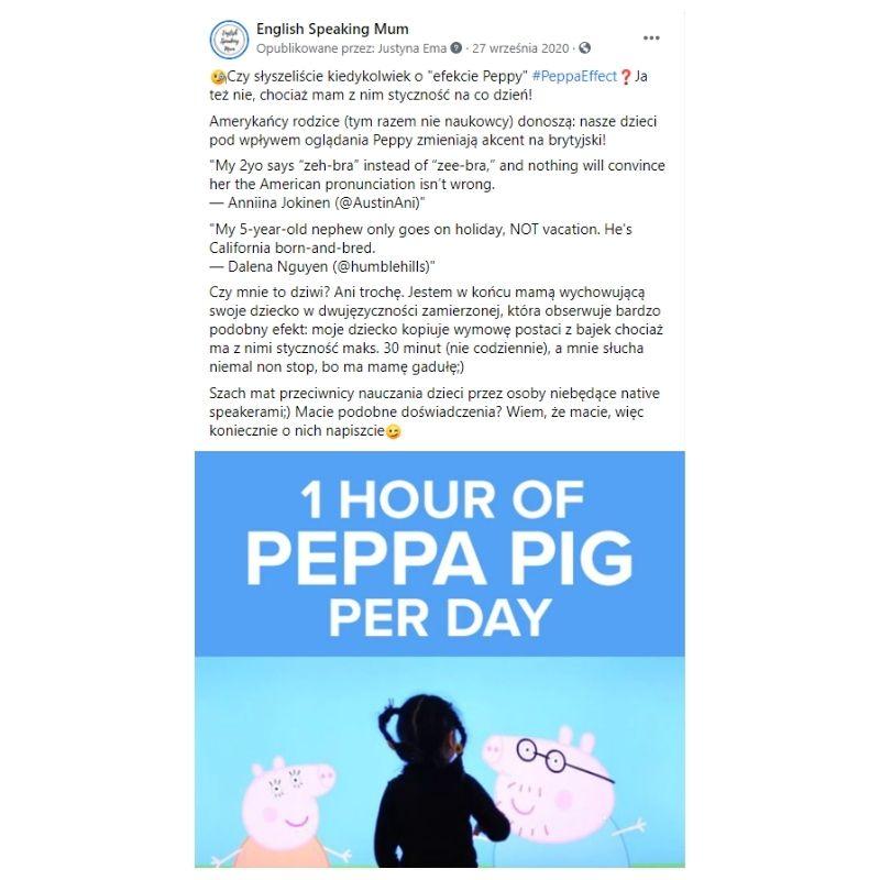 Efekt Peppy  / The Peppa Effect Świnka Peppa do nauki angielskiego